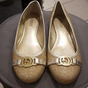 ❤Guess❤ Claira Ballet Flats in Gold